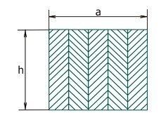 Номинальные размеры поперечного сечения клееная балка