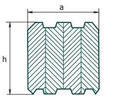 Номинальные размеры поперечного сечения профилированный брус